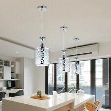 Modern Crystal Iron E27 Ceiling Light Pendant Lamp Dining Room Chandelier Decor