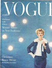 VOGUE December 1957 Karen Radkai CHRISTMAS Mainbocher Kay Kendall