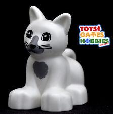 *NEW* LEGO DUPLO White Cat Kitten Animals Farm House Creatures Zoo Family Pet