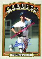 Custom made Topps 1972 Los Angeles dodgers Tommy John baseball card