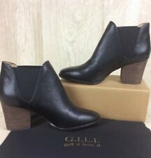 G.I.L.I. Leather Chelsea Ankle Boot-Baldwyn Black Leather Sold Out QVC 9.5