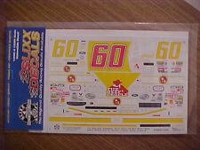 NEW 1999 MARK MARTIN #60 WINN DIXIE  1/24-1/25 SCALE WATER SLIDE DECAL SHEET