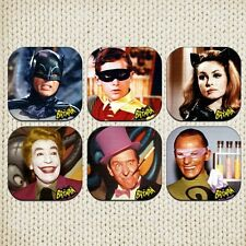 Batman Adam West Series Coasters Picture Printed Beer Mats Robin Joker Catwoman