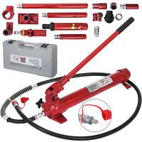 Hydraulic Jack 10 Ton Porta Power Panel Beating Auto Body Dent Frame Repair Kit