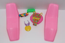 Barbie Pink Lounge Pool Chairs Teresa Glitter Beach Swimsuit, Raft & Accessories