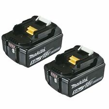 2 MAKITA GENUINE BATTERY TWIN PACK BL1850 18v 5.0AH WITH LEVEL INDICATOR