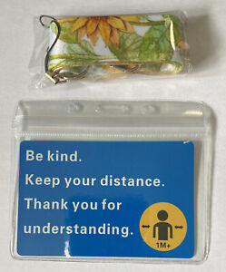 Exemption Card Lanyard And Label Set Be Kind Keep Your ... Sunflower New Sealed