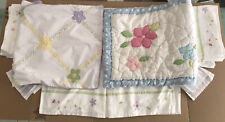 Lot Pottery Barn Kids Crib/Toddler Bed Skirt Pillow Case & Quilted Pillow Sham