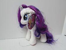 """RARITY 6.5"""" Plush Doll My Little Pony Aurora Mylar Hair NEW NWT MLP Brony"""