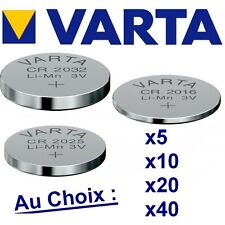 Lot de 1-5-10-20-40 piles VARTA Lithium 3 Volts CR2032 - CR2025 -CR2016 NEUVES