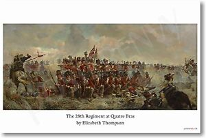 28th Regiment at Quatre - Elizabeth Thompson 1875 - NEW Fine Art POSTER (fa171)