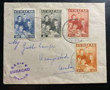 1943 Aruba Curacao First Day Cover FDC Locally Used Royal Family Issue