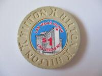 vintage Hilton Casino Las Vegas Nevada $1 Poker Chip A