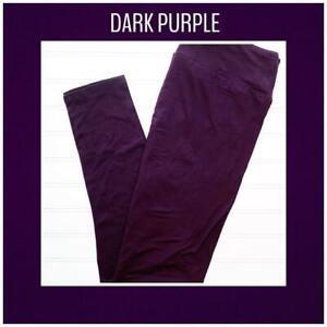 Tween Lularoe Leggings Solid Dark Purple NWT 49787