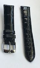AUTHENTIC MICHELE WATCH GENUINE ALLIGATOR BAND BLACK 18 MM NWOT STRAP