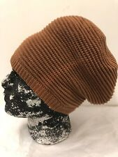 "RASTA KNITTED TAN  HAT 10"" LENGTH REGGAE ROOTS 100% COTTON"
