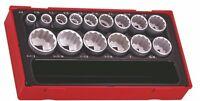 Teng TT1215AF 1/2″ Drive AF (Imperial) 12 point Socket Set in Tool Box Module...