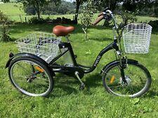 """Jorvik Electric Tricycle Trike - Adult Unisex Black Bicycle 24"""" Wheels Delivery"""