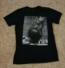 Cat OnWrecking Ball T-Shirt Unisex Size M Black White Short Sleeve Cotton