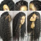 Women Kinkly Curly Black Hair Wig Synthetic Lace Front Wigs Natural Looking Wigs