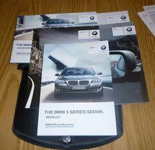 2012 BMW 528i 535i 550i OWNERS MANUAL SET 12 528 535 550 i GUIDE  +case