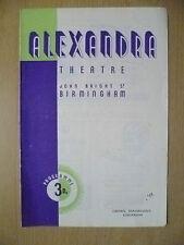 Alexandra Theatre, B'ham Programme1947- CAPTAIN BRASSBOUND'S CONVERSION by B Sha