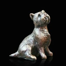 Westie Sitting Solid Bronze Foundry Cast Sculpture by Michael Simpson [804]