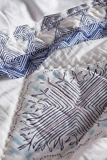 New Anthropologie 3 PC Catarine Queen Hothouse Quilt & 2 Standard Shams Blue