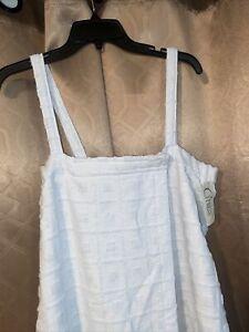 NWT Cypress Blue Terry Cloth Pool Beach  Swim Cover-Up Medium New
