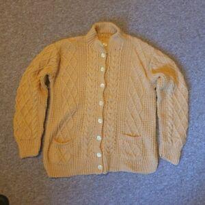 Mustard Yellow Vintage Wool Cardigan
