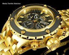 NEW Invicta 52MM Specialty Subaqua Black Dial GoldTone Blk Bezel Bracelet Watch