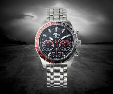 NEW 32 Degrees 14085 Mens Tundra Ion Chronograph Luminious Watch Steel Black/Red