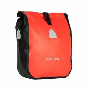 CEVISS Fahrradtasche 19 Liter Wasserdicht Klein Hinten Tragegurt rot