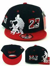 Chicago New Greatest 23 MJ Youth Kid Jordan Bulls Black Red Era Snapback Hat Cap