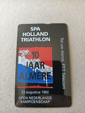 New listing Mint Netherlands Triathlon Comp Advert Phonecard Biegel RDZ067 2500 Issued