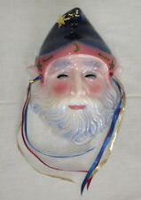Clay Art 1988 Wizard Magician Mask, Wall Hanging