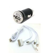 Car Charger & 5 in1 USB Cable For iPhone 4 4s 5 6 7 iPod Nokia Samsung HTC LG gm