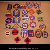 28 Original WWII Army Military Patches