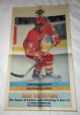 THEOREN FLEURY The Hockey News POSTER 1991 Calgary Flames NHL 75th Anniversary