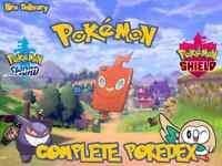 Pokemon Sword and Shield Pokemon Home Full Galar Pokedex Shiny 6iv 497+