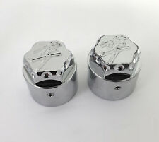 99-07-08-17 Hayabusa Chrome 3D Hex Fork Adjuster Caps For Stock/OEM Triple Tree!