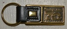 NEW Snap-on Tools 70th Anniversary Heavy Leather & Brass Key Ring Chain Fob