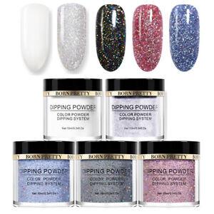 5Bottles/Set 10ml BORN PRETTY Dipping Powder Holo Glitter Starter Kits Nail Art