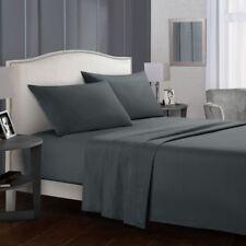 4pcs Bedding Sheet Set Flat Sheet+Fitted Sheet+Pillowcase Queen King Deep Pocket