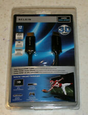 Belkin HDMI High Speed cable 12 feet 3D-1080p 10.2 Gbps+ 4K 240Hz+ NEW
