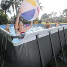 New listing Intex 32ft X 16ft X 52in Ultra Frame Rectangular Pool Set with Sand Filter Pump,