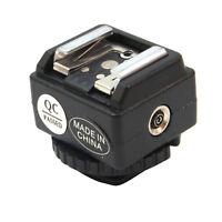 Adattatore slitta canalina flash Nikon hot shoe per fotocamere fotocamera Canon