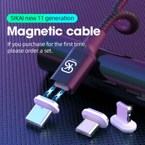 3 in 1 Magnetic USB Type C 8-Pin Charger Charging Cable for iPhone 13 Huawei P50