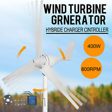 400W 12V 3 Blades Wind Turbine Generator Kit Clean Energy + Charger Controller