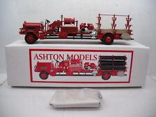 ASHTON MODELS No. 110 1937WHITE SMOKE EJECTOR TRUCK 2 FDNY FIRE DEPT1/43 SCALE
